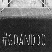 chalkboard #goanddo