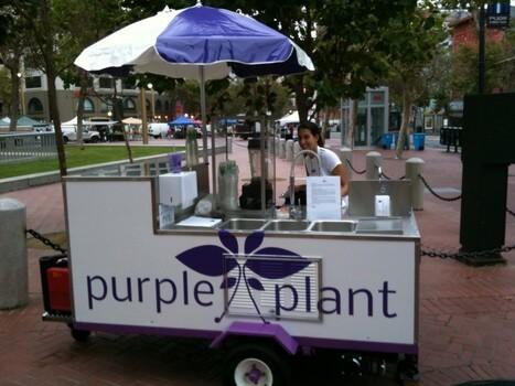 Purple Plant Blends Farmer's Market Stand