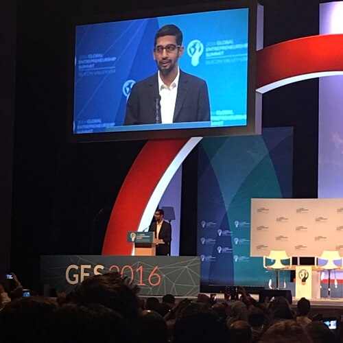 Learned at #GES2016 with Sundar Pichai