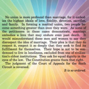 Final paragraph of Justice Kennedy's majority opinionlegalizing same-sex marriage