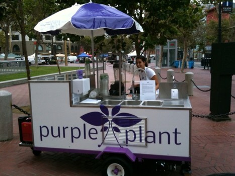 Purple Plant Blends Farmer's Market Stand