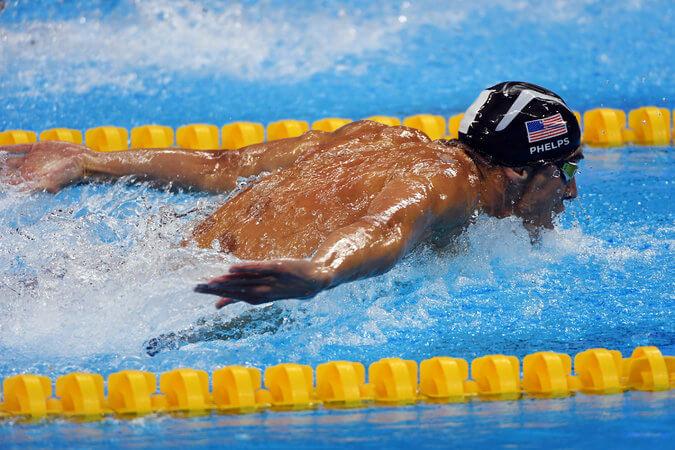 Michael Phelps at Summer Olympics 2016.